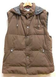 Used Brunello Cucinelli Down Vest Men's Outer Size Xl Brown Made In Italy