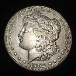 1902-s Morgan Silver Dollar - Beautiful Xf+ Details From The San Francisco Mint