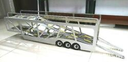 3 Axle Full Metal Auto Transport Trailer For Tamiya 1/14 Tractor Truck Painted