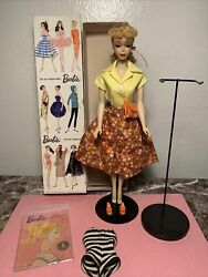 """Stunning Vintage Barbie Ponytail 3 With Boxandstand In """"country Fair"""" 1603 Mint"""
