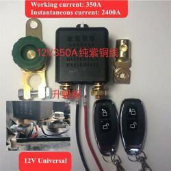 12v 350a Wireless Remote Control Car Battery Disconnect Isolator Master Switches
