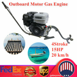 4 Stroke 15hp 420cc Outboard Motor Fishing Boat Gasoline Engine 20 Km/h Usa New