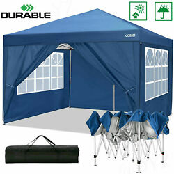 10'x10' Canopy Party Wedding Tent Outdoor Pavilion Heavy Duty Cater Event Blue