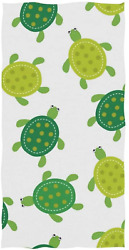 Cute Turtle Design Hand Towels for Bathroom Gym Beach and Spa $11.99