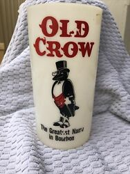 Vintage Old Crow Bourbon American Whiskey Motion Sign Insert Display Lamp