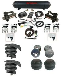 Complete Airlift 3p Air Ride Suspension Kit 480 Black 27685 For 88-98 Chevy C15