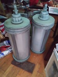 2 Extremely Rare 100 Year Old Art Deco Solid Bronze Lamps In A Beautiful Patina