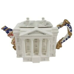 Fitz And Floyd The White House Teapot Vintage 1993 Ltd Edition 3796/5000