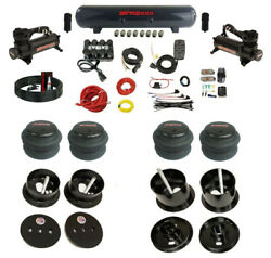 Complete Bolt On Air Ride Suspension Kit Manifold Valves And Bags Fits 63-64 Cadi