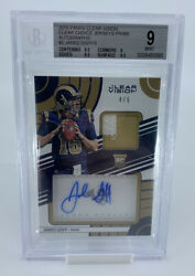 2016 Panini Clear Vision Jared Goff Rookie Patch Auto /5 Bgs 9 / 10 Auto Rare 🔥