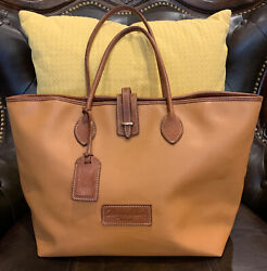 Dooney and Bourke Xlarge Brown Leather Overnight Tote bag $27.00