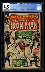 Tales Of Suspense 57 Cgc Vg+ 4.5 Off White To White 1st Hawkeye