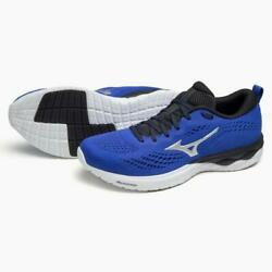 Mizuno Wave Revolt2 Menand039s Black Blue Silver Running Shoes Sports Outdoor Japan