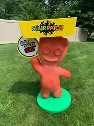 Sour Patch Kid Candy Life Size Store Display With Tray 46 Tall And Locking Wheels