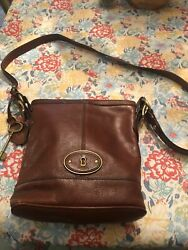 fossil brown leather crossbody purse $35.00
