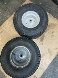 2 Craftsman Lawn Tractor Set Rear Tires Rims And Wheels 18x9.50-8 See All Pic