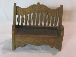 Antique German Dollhouse Settee, Sofa Or Bench