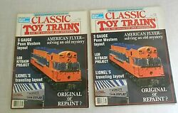 2 Vintage Fall 1988 Classic Toy Trains Magazine Early Edition Model Railroading