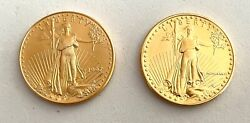 2- 1/2 Oz Fine Gold 25 American Eagle Coins These Are Better Dates