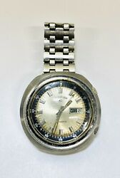 Vintage Lord Elgin Automatic Day-date All Stainless Steel Watch Missing Pins