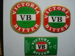 Australia Vb Victoria Bitter Beer Labels - Carlton And United Breweries