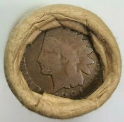 Obw 1891 Indian Head / Tails  Lincoln Wheat One Cent Usa Penny Roll.