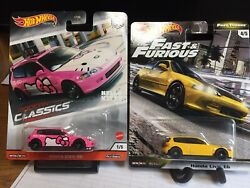 Hot Wheels Fast And Furious Fast Tuners Honda Eg6 And Hello Kitty Civic. Lot 2.