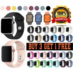 For Apple Watch Strap Band iWatch Series 6 SE 5 4 3 SILICONE Durable Sport