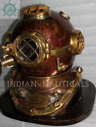 Morse Us Navy Diving Helmet Mark V Mod-1 Solid Copper And Brass Antique Repoductio