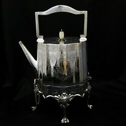 Silver Plated Kettle On Stand