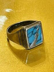 Goro's Ring Size 10 Turquoise Silver Blue Fashion Jewelry Accessory Authentic