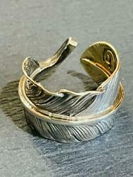 Goro's Ring Size 9 Feather Fashion Jewelry Accessory Cool Authentic Used