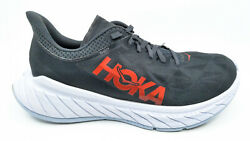Hoka One One Carbon X 2 Menand039s Cushioned Running Shoes Size 9.5 1113526 Dsfs