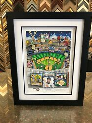 Charles Fazzino 3d Artwork Derek Jeter Signed And Numbered Steiner Ny Yankees