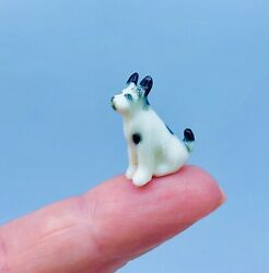 Tiny Miniature Terrier Jack Russell Toy Fox Puppy Dog Ceramic Ornament Gift
