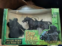 Toy Biz Lord Of The Rings Deluxe Horse And Rider Set Ringwraith And Horse - New