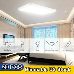 20x72w Dimmable Led Ceiling Light Ultra Thin Flush Mount Kitchen Home Fixture
