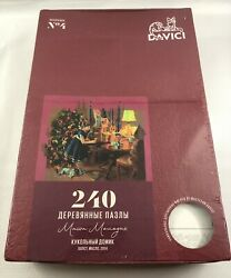 Brand New Sealed Davici Wooden Whimsy Jigsaw Puzzle. Doll's House, 240 Pcs.