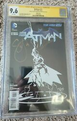 Batman 2011 12 1100 Sketch Variant 9.6 Ss 2x Snyder And Capullo Signed New 52