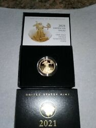 Confirmed 2021-w - American Eagle One-half Ounce Gold Proof Coin 21ecn Type 2
