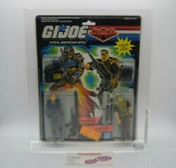 New Vintage Hasbro Gi Joe Night Force Charbroil And Repeater 1989 Graded Cas 70+