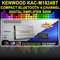 New Marine Atv 4 Channel Bluetooth Amplifier For Motorcycles Kenwood Kac-m1824bt