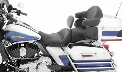 Mustang 79643 1-piece Heated Super Touring Seat With Driver Backrest No Studs