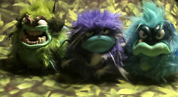 Grumblies Set Of 3 2018 Tremor Green Purple Bolt Blue Hydro Interactive Toy