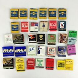 Lot 35 Gas Oil Truck Car Matchbook Covers Mobil Sunoco Mustang Advertising Vtg