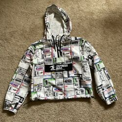 Forever 21 Usps Collection Express Mail 1/2 Zip Pullover Windbreaker S
