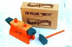Vintage Peter-mar The Village Smitty Wooden Toy, New, In Original Box