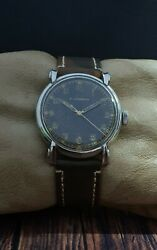 Rare E.gubelin Wwii 1940 Military Cal.s852 Vintage 37mm Rare 15j Swiss Watch.