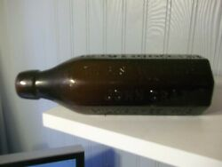 Vintage John Graf 8 Sided Amber Blob Top Weiss Beer The Best What Gives Bottle