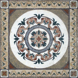 Sq023 47.24andtimes47.24 Pattern Square Marble Mosaic Design Tile